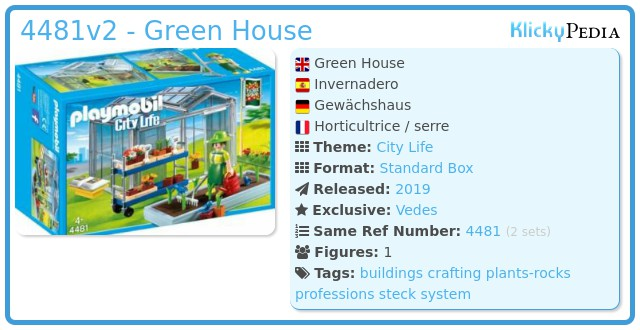 Playmobil 4481v2 - Green House