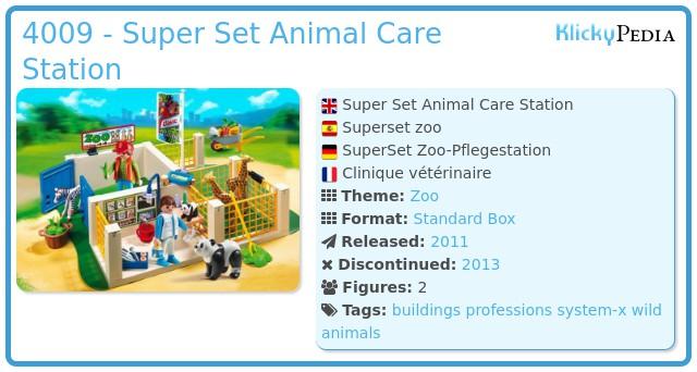 Playmobil 4009 - Super Set Animal Care Station