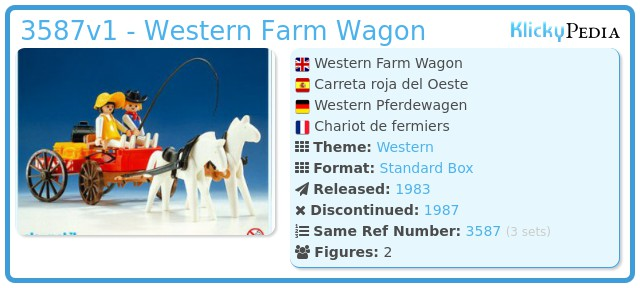 Playmobil 3587v1 - Western Farm Wagon