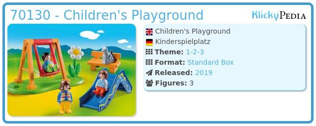 Playmobil 70130 - Kinderspielplatz