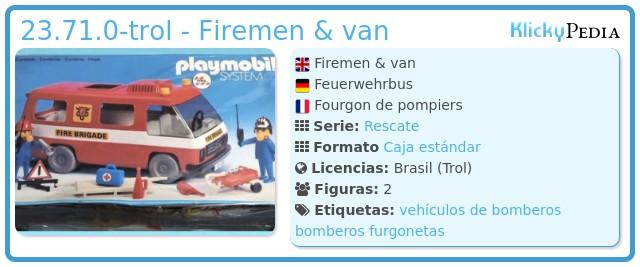 Playmobil 23.71.0-trol - Fire Brigade