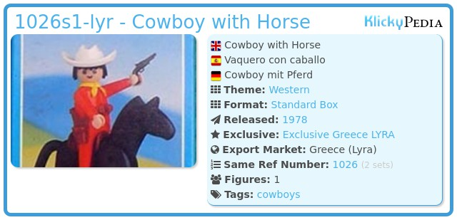 Playmobil 1026-lyr - Cowboy with Horse
