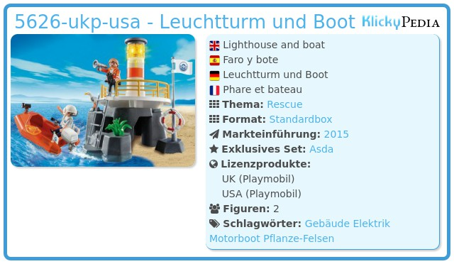 Playmobil 5626-ukp-usa - Lighthouse and boat