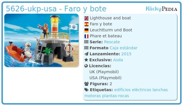 Playmobil 5626-ukp-usa - Faro y bote