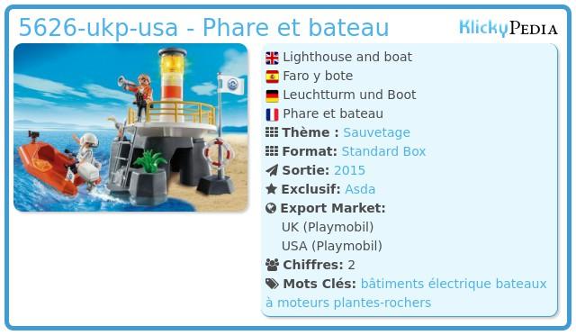 Playmobil 5626-ukp-usa - Phare et bateau