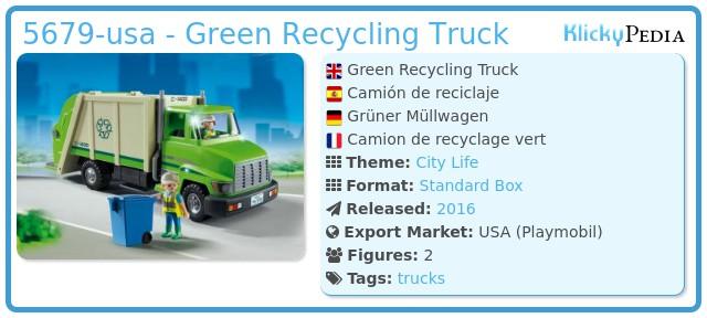 Playmobil 5679-usa - Green Recycling Truck