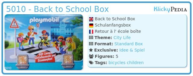 Playmobil 5010 - Schulanfangsbox