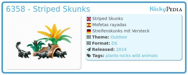 Playmobil 6358 - Striped Skunks