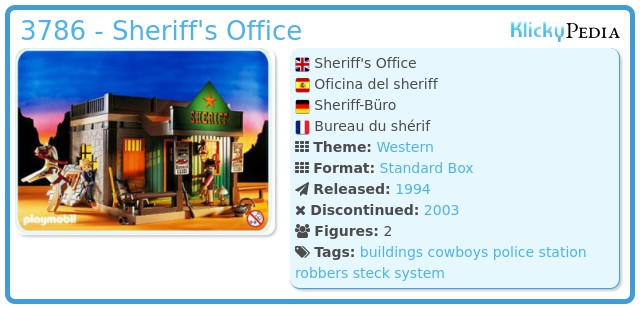 Playmobil 3786 - Sheriff's Office