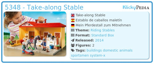 Playmobil 5348 - Take-along Stable