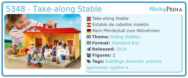 Playmobil 5348 - Take-along Stable
