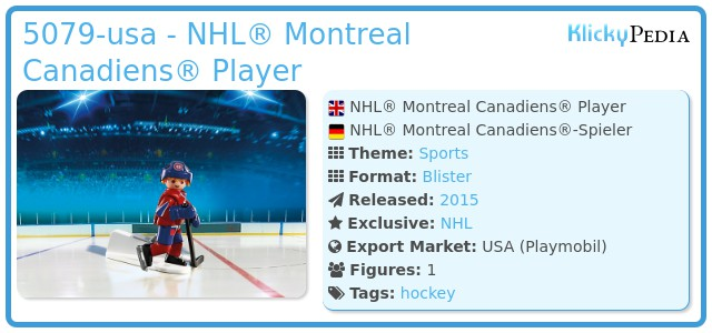 Playmobil 5079-usa - NHL® Montreal Canadiens® Player