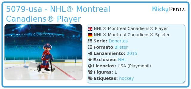 Playmobil 5079-usa - NHL® Montreal Canadiens® Player
