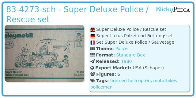 Playmobil 83-4273-sch - Super Deluxe Police / Rescue set
