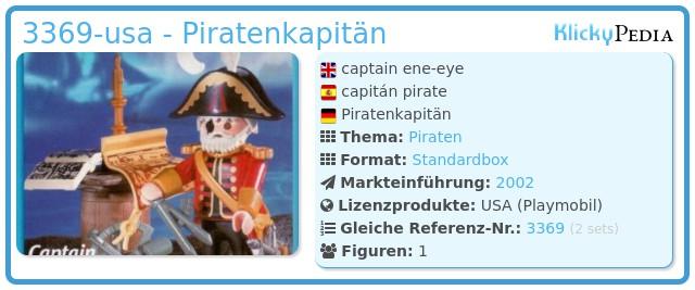 Playmobil 3369-usa - Piratenkapitän