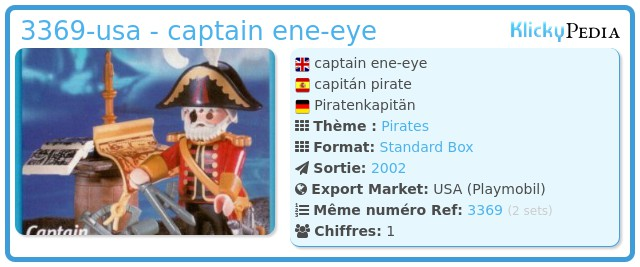 Playmobil 3369-usa - captain ene-eye