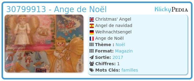 Playmobil 30799913 - Ange de Noël
