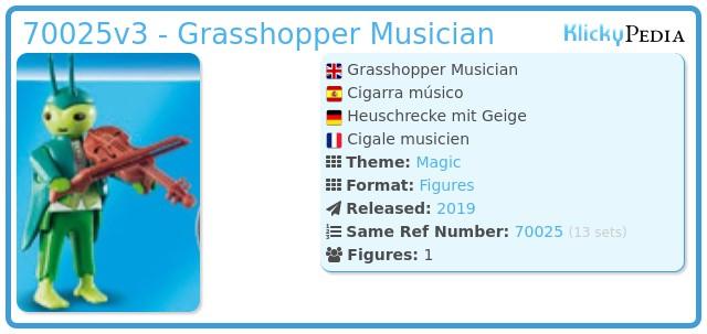 Playmobil 70025v3 - Grasshopper Musician
