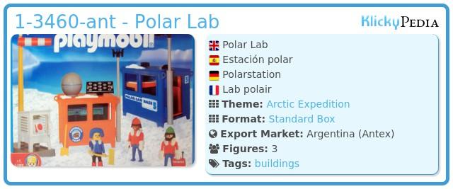 Playmobil 1-3460-ant - Polar Lab