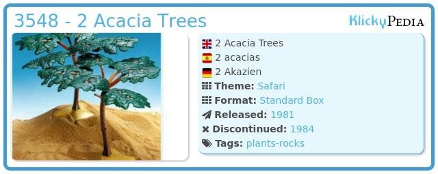 Playmobil 3548 - 2 Acacia Trees