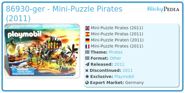 Playmobil 86930-ger - Mini-Puzzle Pirates (2011)