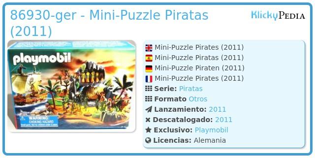 Playmobil 86930-ger - Mini-Puzzle Piratas (2011)
