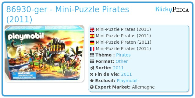 Playmobil 86930-ger - Mini-Puzzle Pirates (2011)