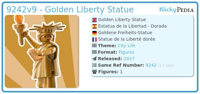 Playmobil 9242v9 - Golden Liberty Statue