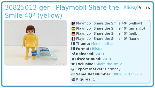 Playmobil 30825013-ger - Playmobil Share the Smile 40º (yellow)