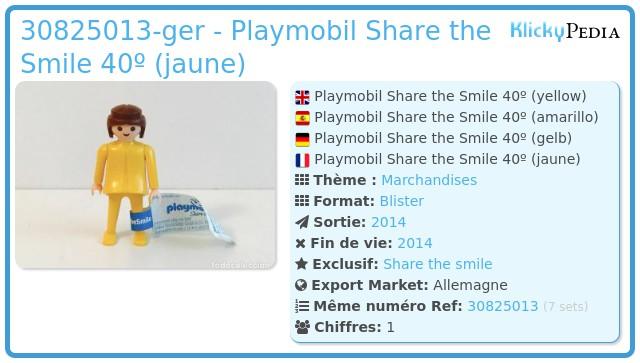 Playmobil 30825013-ger - Playmobil Share the Smile 40º (jaune)