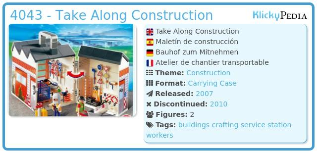 Playmobil 4043 - Take Along Construction
