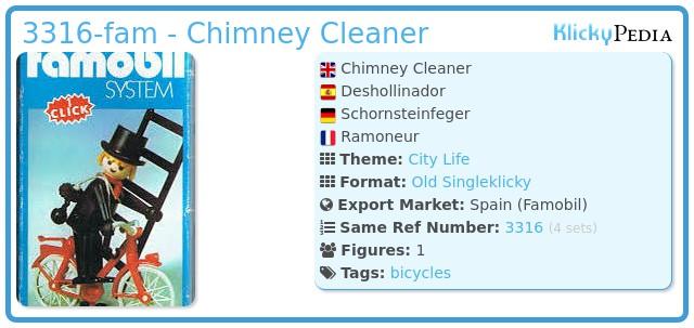 Playmobil 3316-fam - Chimney Cleaner