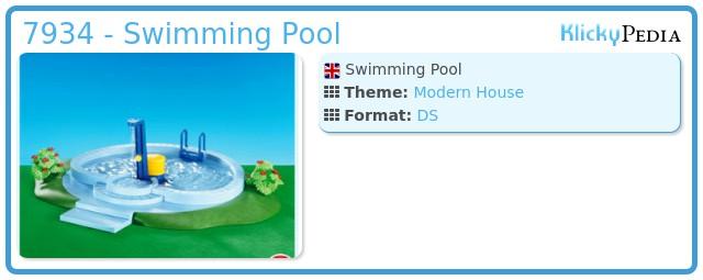 Playmobil set 7934 swimming pool klickypedia for Playmobil jugendzimmer 6457