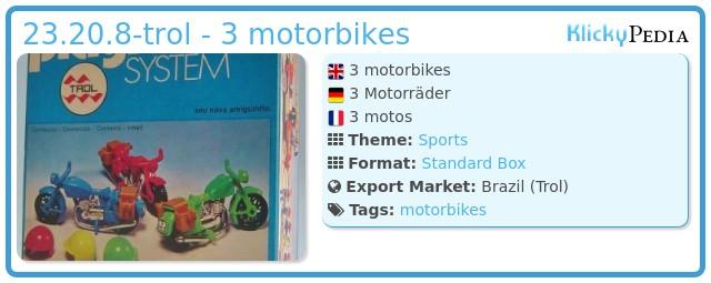 Playmobil 23.20.8-trol - 3 motorbikes