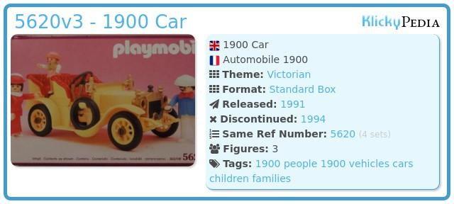 Playmobil 5620v2 - 1900 Car
