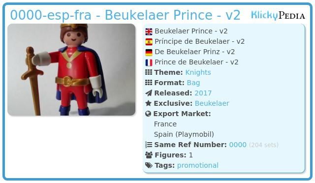 Playmobil 0000-esp-fra - Beukelaer Prince - v2
