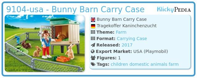 Playmobil 9104-usa - Bunny Barn Carry Case
