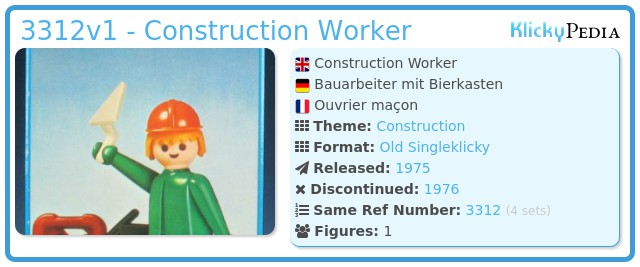 Playmobil 3312v1 - Construction Worker