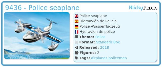Playmobil 9436 - Police seaplane