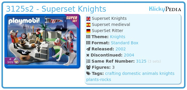 Playmobil 3125s2 - Superset Knights