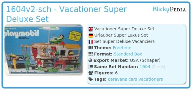 Playmobil 1604v2-sch - Vacationer Super Deluxe Set