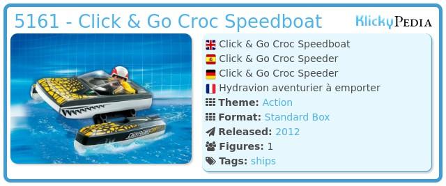 Playmobil 5161 - Click & Go Croc Speedboat
