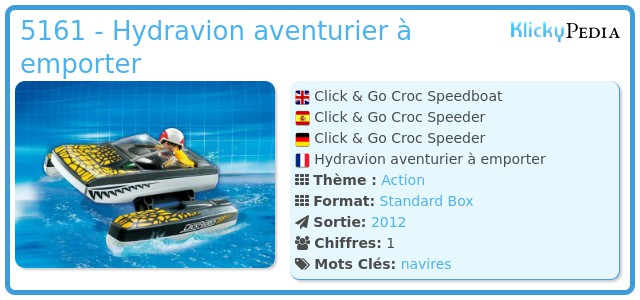 Playmobil 5161 - Hydravion aventurier à emporter