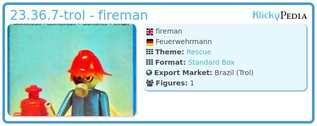 Playmobil 23.36.7-trol - fireman