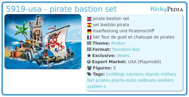 Playmobil 5919-usa - pirate bastion set