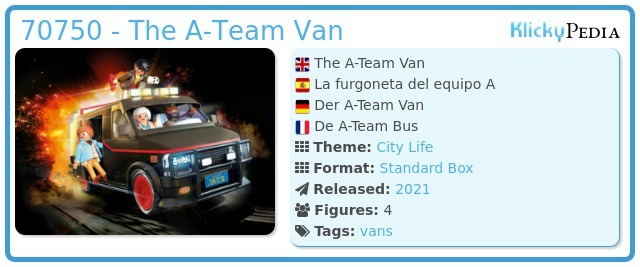 Playmobil 70750 - The A-Team Van