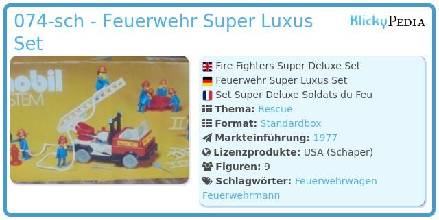 Playmobil 074-sch - Feuerwehr Super Luxus Set