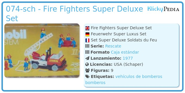 Playmobil 074-sch - Fire Fighters Super Deluxe Set