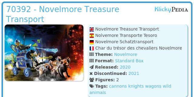 Playmobil 70392 - Novelmore Treasure Transport