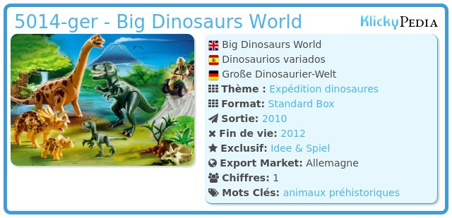 Playmobil 5014-ger - Big Dinosaurs World
